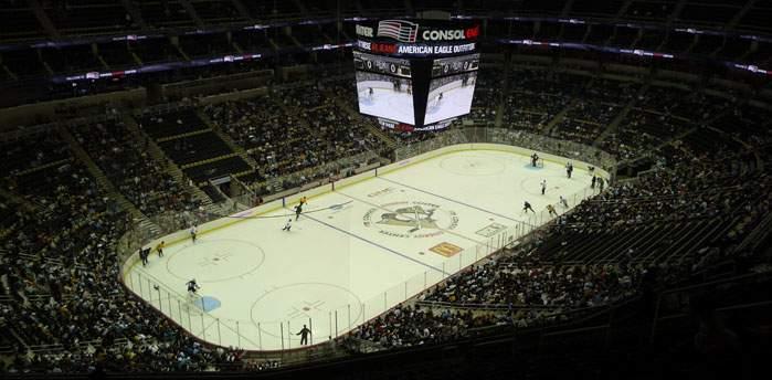 Consol Energy Center - вид внутри арены