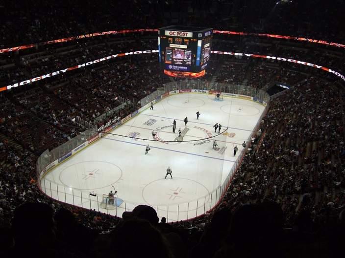 Honda Center - вид внутри арены