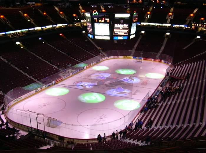Rogers Arena - вид внутри арены
