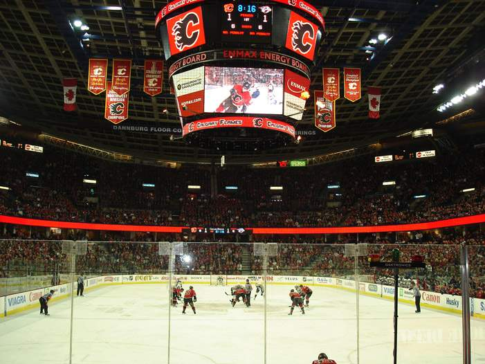 Pengrowth Saddledome - вид внутри арены