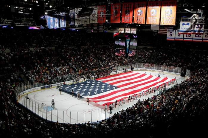 Nassau Veterans Memorial Coliseum - вид внутри арены