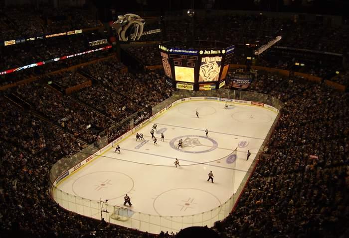 Bridgestone Arena - вид внутри арены